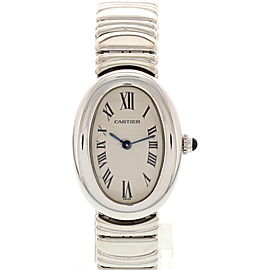 Cartier Baignoire 1950.1 18K White Gold Quartz 22mm Womens Watch