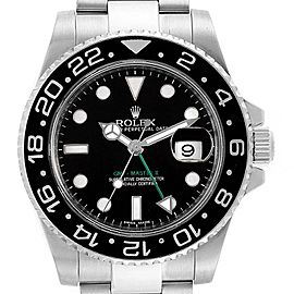 Rolex GMT Master II Steel Ceramic Bezel Mens Watch 116710 Box Card