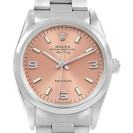 Rolex Air King 34mm Salmon Dial Steel Unisex Watch 14000