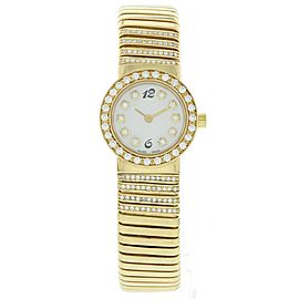 Bulgari Tubogas BB232T 18K Yellow Gold 23mm Womens Watch
