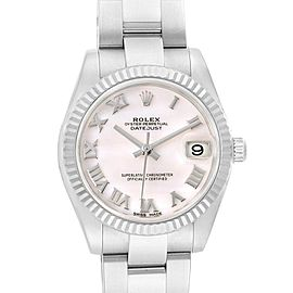 Rolex Datejust Midsize 31 Steel White Gold Ladies Watch 178274 Box Card