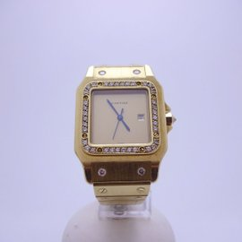 Cartier Santos 18K Yellow Gold Automatic 29mm Womens Watch