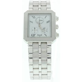 Piaget Protocol 14524 M601D 18K White Gold Quartz 28mm Mens Watch
