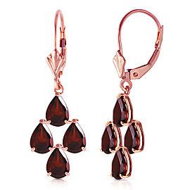 4.5 CTW 14K Solid Rose Gold Garnet Nights Earrings