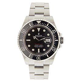 Rolex Sea Dweller 12600 Stainless Steel Black Dial Black Bezel 43mm Mens Watch