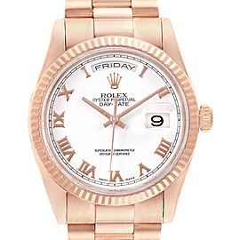 Rolex President Day Date 36 Rose Gold Mens Watch 118235 Box Papers