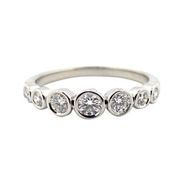 Tiffany & Co. Platinum Jazz Graduated 0.31ct Diamond Ring Size 6.5