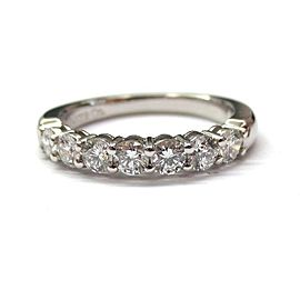 Tiffany & Co. Platinum 0.57ct Diamond Shared Setting Wedding Band Ring Size 6.5