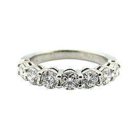 Tiffany & Co. Platinum Shared Setting 0.91ct Diamond 3.5mm Ring Size 6