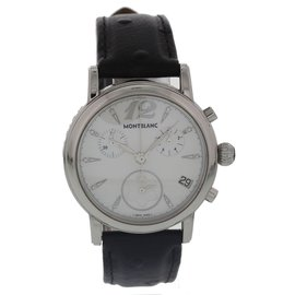 Montblanc Meisterstuck 7020 Stainless Steel & Leather Quartz 36mm Womens Watch