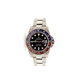 Rolex GMT Master ll 116719 White Gold Black Dial 40mm Mens Watch