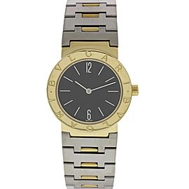 Bulgari Diagono A5013 18K Yellow Gold & Stainless Steel Quartz 30mm Womens Watch