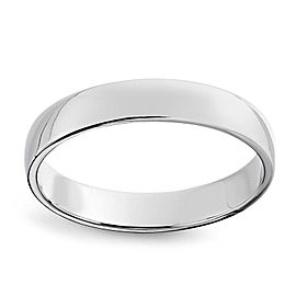 10K White Gold Wedding Band Ring Size 12.50