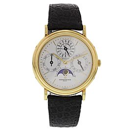 Vacheron Constantin Perpetual Calendar 43031/3 18K Yellow Gold & Leather Automatic 36mm Unisex Watch