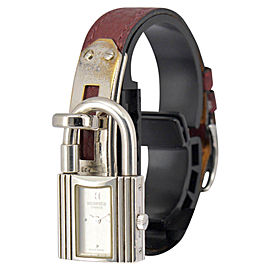 Hermes Kelly Watch 925 Sterling Silver & Leather / Stainless Steel 20mm Womens Watch