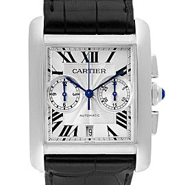 Cartier Tank MC Silver Dial Automatic Chronograph Mens Watch W5330007