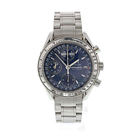 Omega Speedmaster 3523.80 Stainless Steel Blue Dial Automatic 39mm Mens Watch
