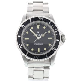 Rolex Submariner 5513 Stainless Steel Black Dial Automatic 40mm Mens Watch