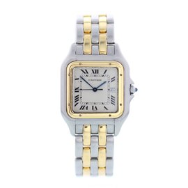 Cartier Panthere 18K Yellow Gold and Stainless Steel 28mm Womens Watch