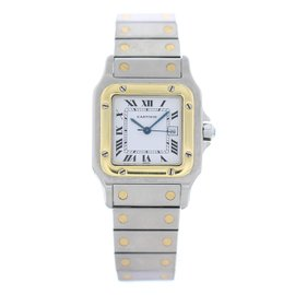 Cartier Santos Galbee 1566 Stainless Steel & 18K Yellow Gold Automatic 29mm Womens Watch