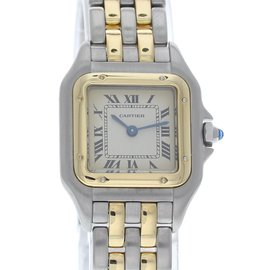 Cartier Panthere 168921 Stainless Steel & 18K Yellow Gold Quartz 23mm Womens Watch