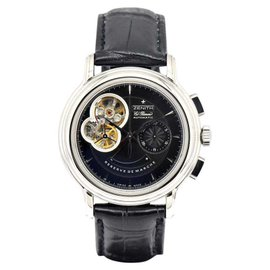 Zenith Chronomaster T Open 03.2040.4021 Stainless Steel & Leather Automatic 40mm Mens Watch