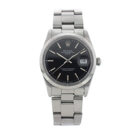 Rolex Date 15000 Stainless Steel Automatic 34mm Mens Watch