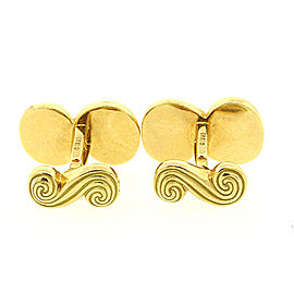 Tiffany & Co. 18K Yellow Gold Spiro Swirl Cufflinks