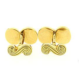 Tiffany & Co. 18K Yellow Gold Spiro Swirl Cufflinks