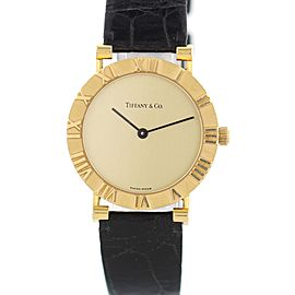 Tiffany & Co. Atlas M0630 18K Yellow Gold Quartz 31mm Womens Watch