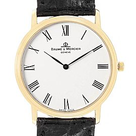 Baume Mercier Classima Ultra Thin 18K Yellow Gold Quartz Watch 95612