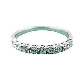 Tiffany & Co. Platinum with 0.27ct. Diamond Eternity Band Ring Size 7