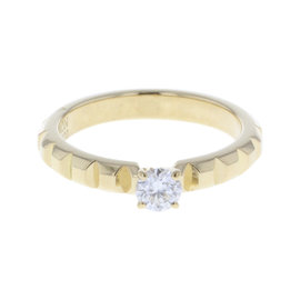 Boucheron 18K Yellow Gold with 0.20ct Diamond Ring Size 4