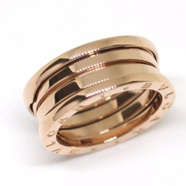 Bulgari B-Zero One 18K Rose Gold Ring Size 7.5