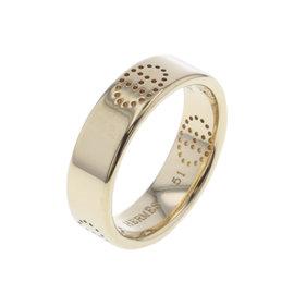 Hermes Evelyne 18K Yellow Gold H Logo Ring Size 5.5