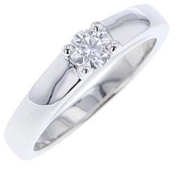 Bulgari Platinum with 0.2ct. Diamond Engagement Ring Size 4.5
