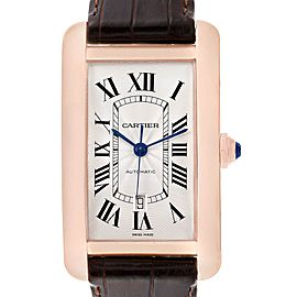 Cartier Tank Americaine Rose Gold Automatic Mens Watch W2609856