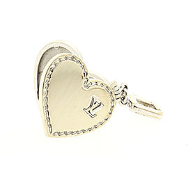 Louis Vuitton Heart Locket Pendant Authentic Large Version 18k White Gold 15.7g