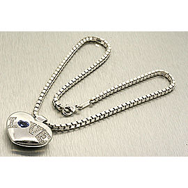 Chopard White Gold Diamond, Sapphire Womens Pendant