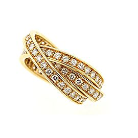Cartier Trinity Wedding Band Ring 18K Yellow Gold with 1.50ct Diamond Size 6.25