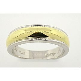 Scott Kay Yellow Gold, Platinum Wedding Ring Size 9.5