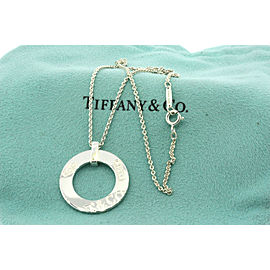 Tiffany & Co. 1837 Circle Pendant Sterling Silver Necklace