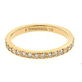 Tiffany & Co. 18K Rose Gold with 0.34ct Diamond Eternity Wedding Band Ring Size 4
