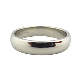 Tiffany & Co. Lucida Platinum Wedding Band Ring Size 7.5