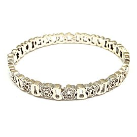 Tous 18k White Gold Diamond Bracelet