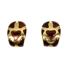 Roberto Coin Animalier 18K Yellow Gold & Enamel Giraffe Earrings
