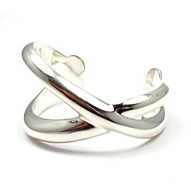Angela Cummings 925 Sterling Silver X Crossover Spain Bangle Bracelet