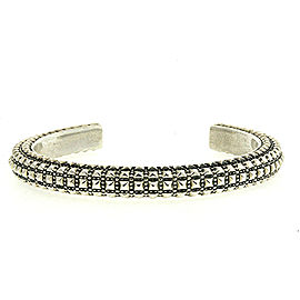 Queen Baby Sterling Silver Cuff Bracelet 5 Sided Pyramid Studded Heavy