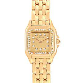 Cartier Panthere Ladies 18k Yellow Gold Diamond Ladies Watch WF3070B9