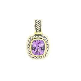 David Yurman Albion 925 Sterling Silver & 14K Yellow Gold with Amethyst Pendant